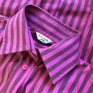 Paul Smith BLUE Lady's Striped Button Up Blouse